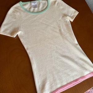 Chanel boutique cashmere shirt